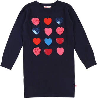Billieblush Long-Sleeve Knit Heart Dress, Size 4-8