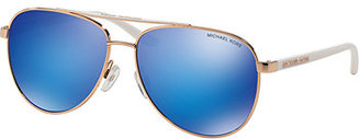 Michael Kors Aviator Metal Mirrored Sunglasses $125 thestylecure.com