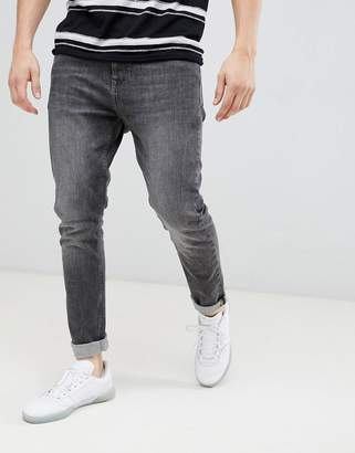 Esprit Slim Fit Tapered Jeans In Gray Wash