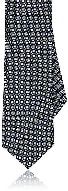 Barneys New YorkBarneys New York Men's Floral-Neat-Pattern Silk Necktie