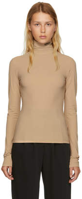 Maison Margiela Beige Underneath Lycra Jersey Turtleneck