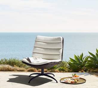 Pottery Barn Torrey Modern Swivel Chair, Espresso