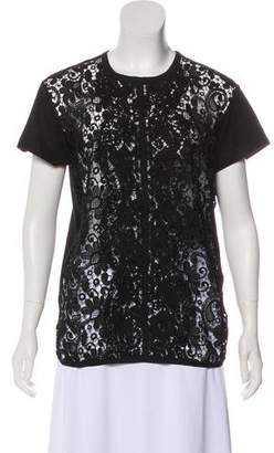 No.21 No. 21 Lace-Accented Short Sleeve Top