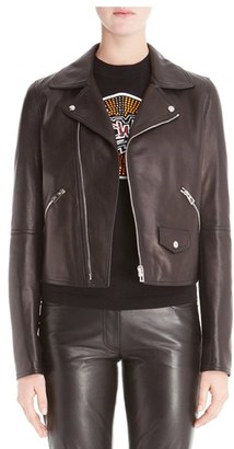 Women's Loewe Leather Moto Jacket $3,990 thestylecure.com