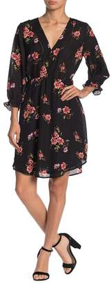 Collective Concepts Floral 3/4 Sleeve Dress