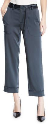 Nanette Lepore Roller Skate Crop Cuff Jogger Pants w/ Belt