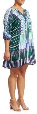 Nic+Zoe Plus Thousand Miles Stripe Shift Dress