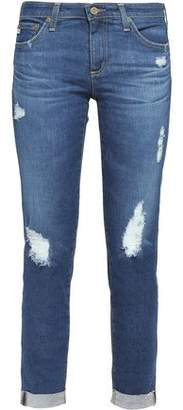 AG Jeans Distressed Low-Rise Skinny Jeans