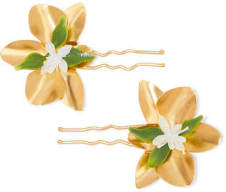 Mercedes Salazar Gold-tone And Resin Hair Pins - one size