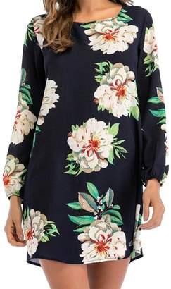 at Amazon Canada · Wofupowga Womens Printed Long Sleeve Blouse Crewneck Top  Soft T-Shirts Dress US-M e98772b2a