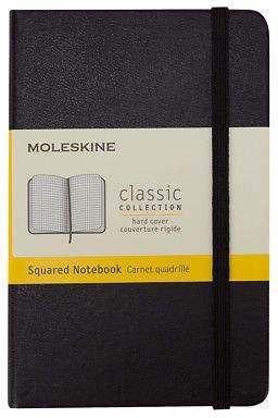 Moleskine NEW Classic Hard Cover Notebook Pocket Squared Black