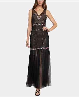 BCBGMAXAZRIA Lace & Tulle Mermaid Dress