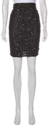 Alice + Olivia Sequined-Accented Knee-Length Skirt