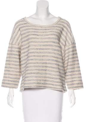 L'Agence Striped Knit Sweater