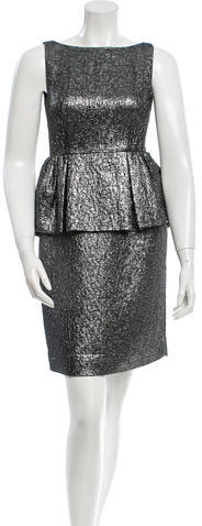 Kate Spade Kate Spade New York Metallic Peplum Dress