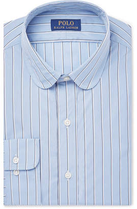 Polo Ralph Lauren Slim-Fit Penny-Collar Striped Cotton-Poplin Shirt