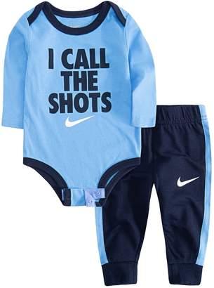 "Nike Baby Boy I Call The Shots"" Bodysuit & Jogger Pants Set"