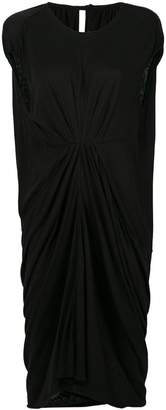 Rick Owens Lilies gathered-front draped dress