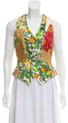 Hermes Silk Printed Vest
