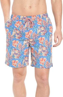 Peter Millar Stars & Coral Swim Trunks