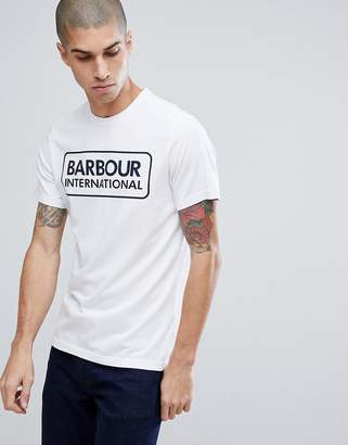 Barbour International Essential Large Logo Tee in White