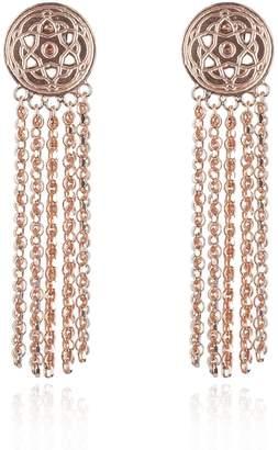 Maro - Rose Gold Byzantine Tassels Earrings
