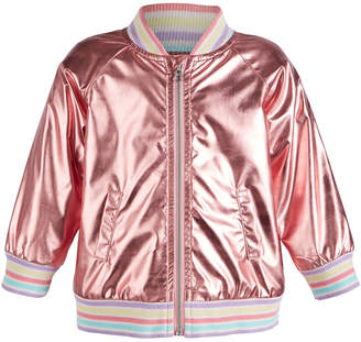 ff0958c3f0be First Impressions First Impression Baby Girls Metallic Bomber Jacket