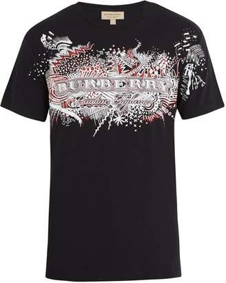 Burberry Logo-doodle cotton T-shirt