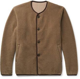 Pilgrim Surf + Supply Collarless Wool-Blend Fleece Jacket