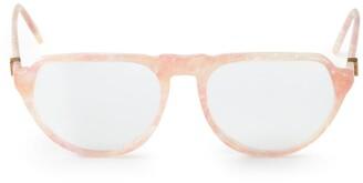 Saint Laurent Pre-Owned marble effect glasses