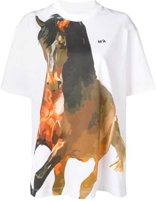Marques Almeida Marques'Almeida Horse プリント Tシャツ