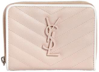 Saint Laurent Compact Quilted Leather Wallet