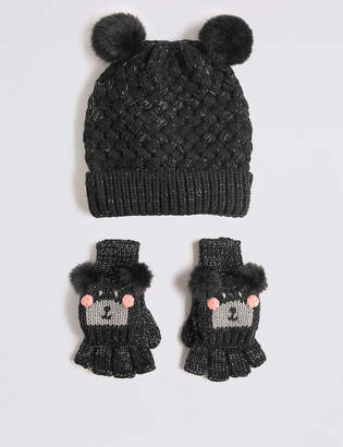 Marks and Spencer Kids' Hat & Mitten Set