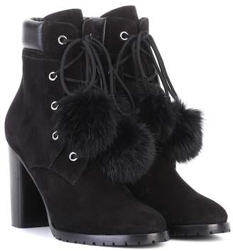 Jimmy Choo Elba 95 fur-lined suede boots