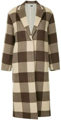 H Beauty&Youth checked single-breasted coat