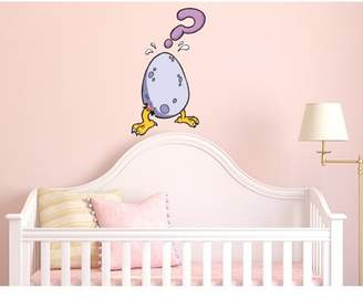 Mural Style and Apply Baby Owl II Wall Decal - wall print decal, sticker, vinyl art home decor - DS 212 - 18in x 31in