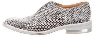Barbara Bui Embossed Leather Oxfords
