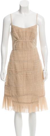 pradaPrada Textured Midi Dress