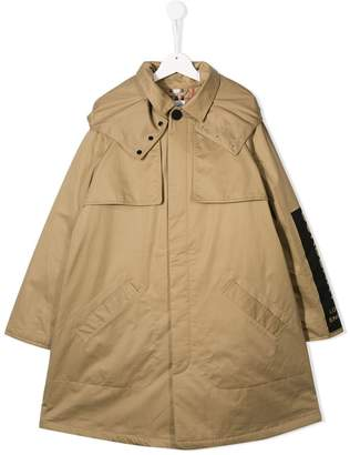 Burberry logo printed rain coat