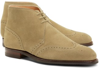 Brooks Brothers Peal & Co. Suede Wingtip Boots