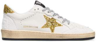 Golden Goose white Ball star applique leather sneakers