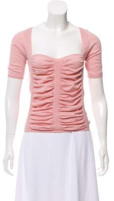 Prada Ruched Knit Top
