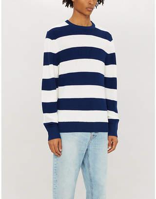 c1889a873a Blue White Striped Sweater Men - ShopStyle UK