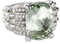 David Yurman Tides Diamond & Prasiolite Ring