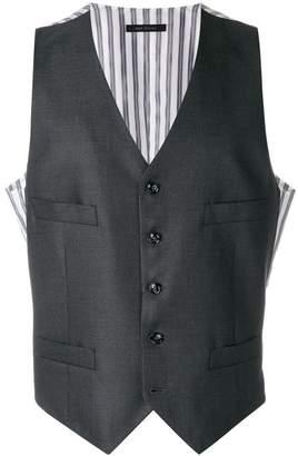 Giorgio Armani stripe detail waistcoat