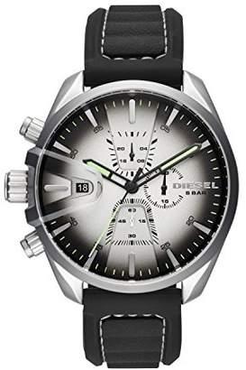 Diesel Mens Chronograph Quartz Watch with Silicone Strap DZ4483
