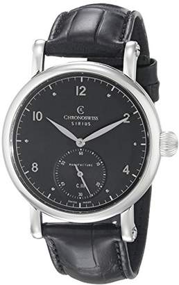 Chronoswiss Men's CH-1023-BK/11-1 Sirius Analog Display Mechanical Hand Wind Black Watch