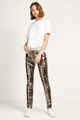 French Connenction May Sequin Mix Skinny Jeans