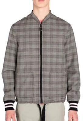 Lanvin Prince Of Wales Wool Racing Jacket