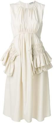 Jil Sander frill ruched dress
